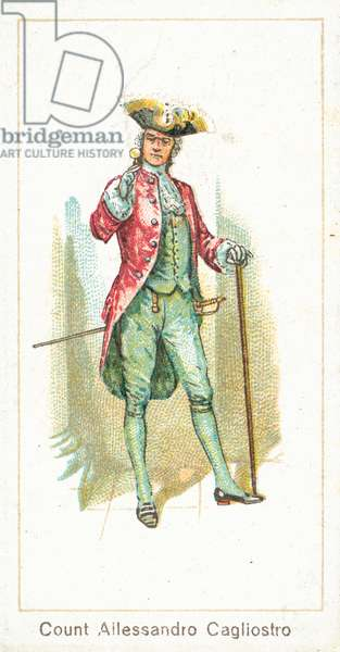 Count Allessandro Cagliostro (chromolitho)