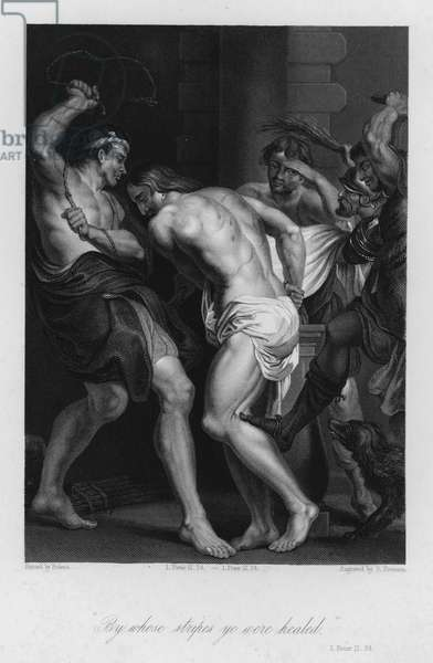 The Scourging of Christ, I Peter II, 24 (engraving)