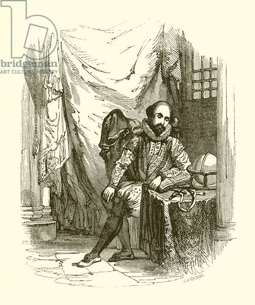 Sir Walter Raleigh in the Tower (engraving)