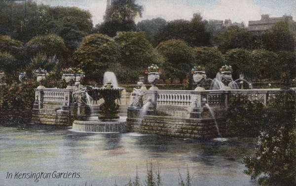 In Kensington Gardens (coloured photo)