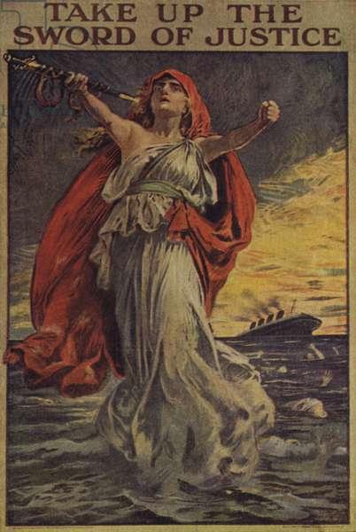 Remember the Lusitania (colour litho)