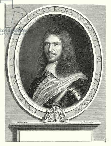 Henri de la Tour d'Auvergne, Vicomte de Turenne, French general (engraving)