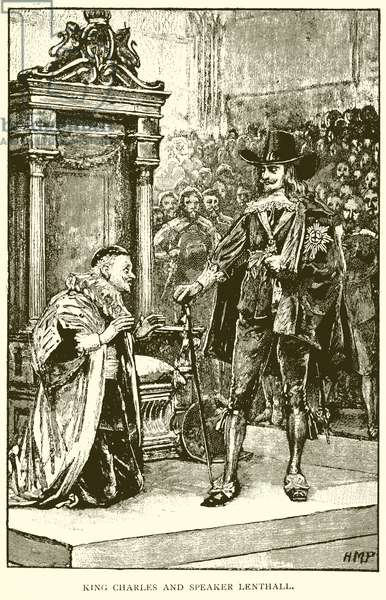 King Charles and Speaker Lenthall (engraving)