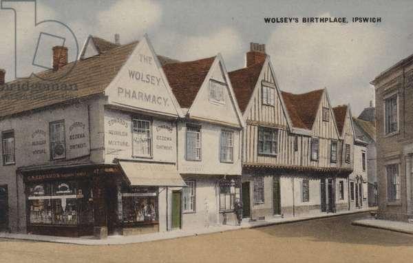Wolsey's Birthplace, Ipswich (coloured photo)