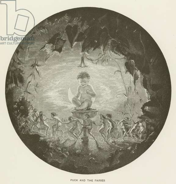 Puck and the fairies (engraving)