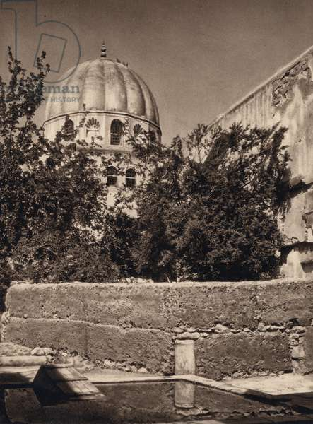 Damascus, Tomb of Saladin (b/w photo)