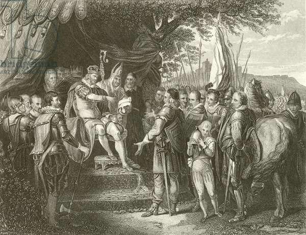 King John signing Magna Charta (engraving)