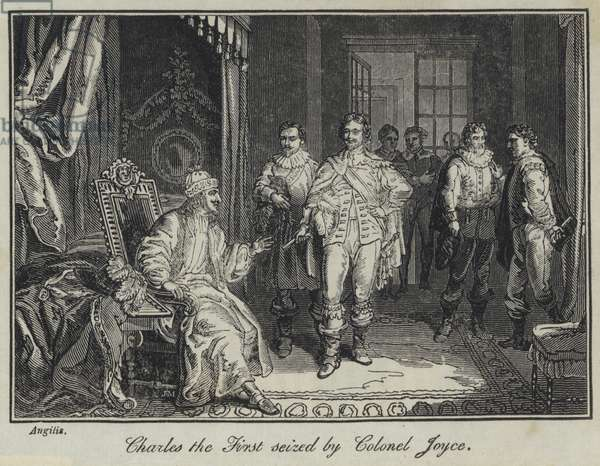 Charles the First seized by Colonel Joyce (engraving)