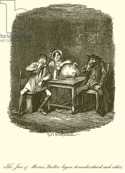 The Jew & Morris Bolter begin to understand each other (engraving)