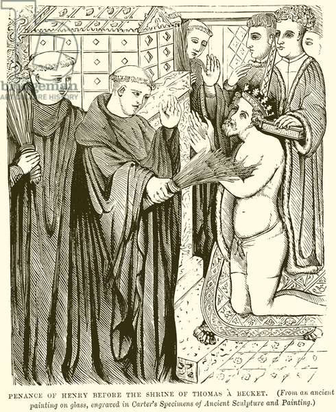 Penance of Henry before the Shrine of Thomas a Becket (engraving)