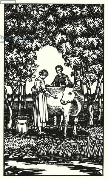 Illustration for Tess Of The D'Urbervilles by Thomas Hardy (engraving)