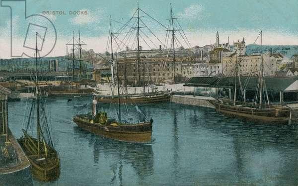 Bristol Docks, England. Postcard sent in 1913.