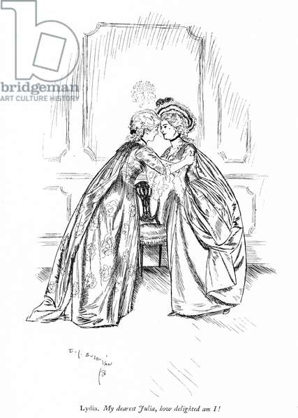 Illustration for Sheridan's The Rivals (engraving)