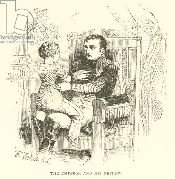 The Emperor and his nephew (engraving)