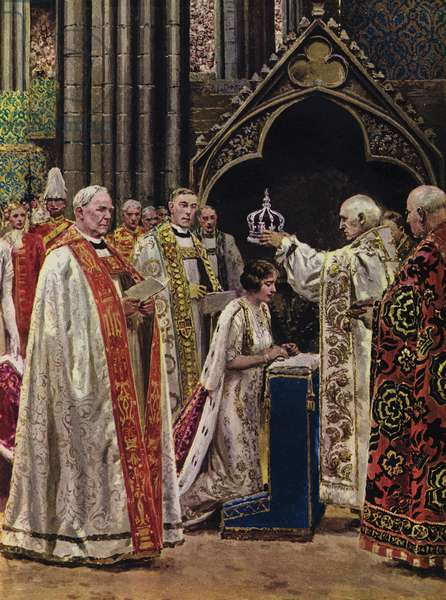 12 May 1937, the coronation of King George VI and Queen Elizabeth (colour litho)