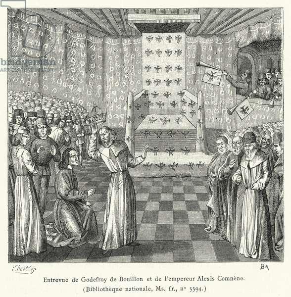 Entrevue de Godefroy de Bouillon et de l'empereur Alexis Comnene (engraving)