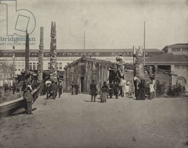 The Totem Poles (b/w photo)