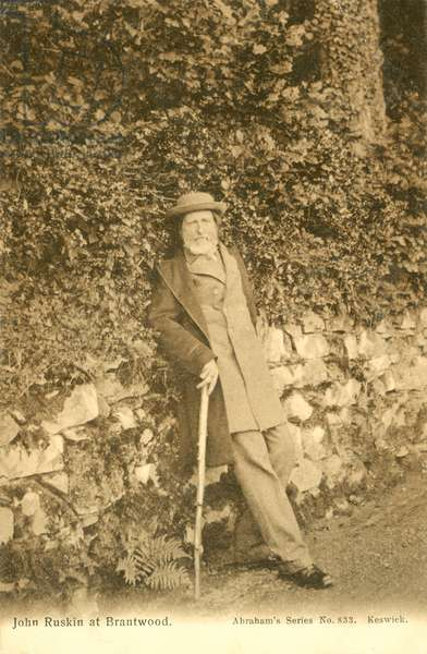 John Ruskin, at Brantwood (b/w photo)