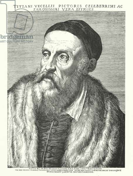 Titian, Italian Renaissance artist (engraving)
