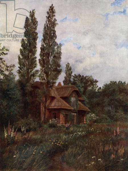 Kew Gardens: The Queen's Cottage (colour litho)