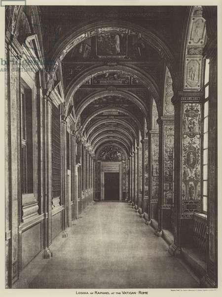 Loggia of Raphael at the Vatican, Rome (b/w photo)