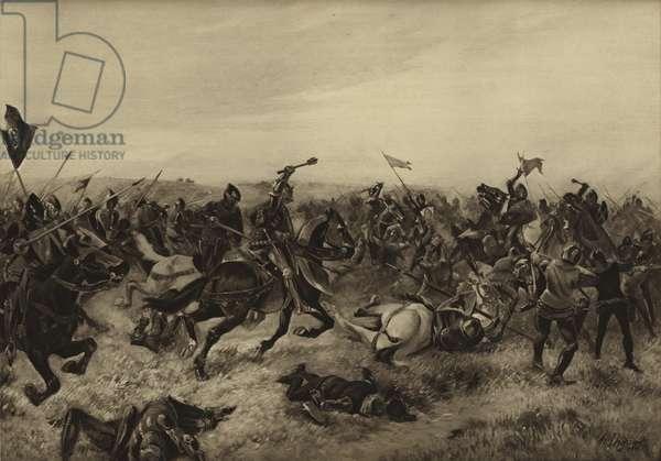 Battle of Agincourt; 1415 (gravure)
