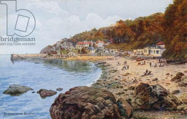 Babbacombe Beach (colour litho)