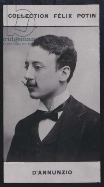 Gabriele d'Annunzio (1864) (b/w photo)