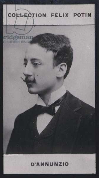 Gabriele d'Annunzio (1864) (b/w photo)