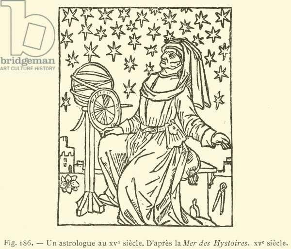 Un astrologue au XVe siecle (engraving)