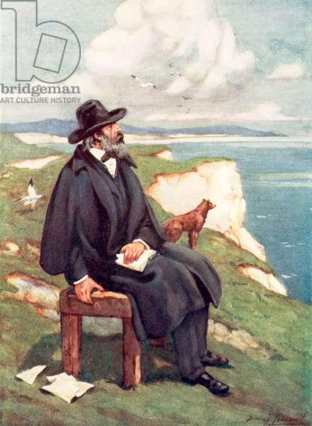 Tennyson: Victorian England's sweetest singer (colour litho)