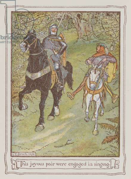Illustration for Ivanhoe by Sir Walter Scott (colour litho)