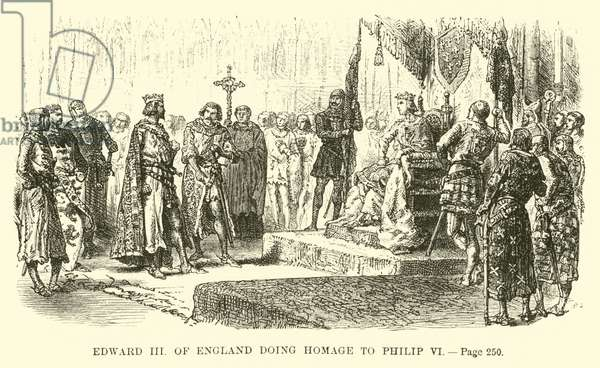 Edward III of England doing homage to Philip VI (engraving)