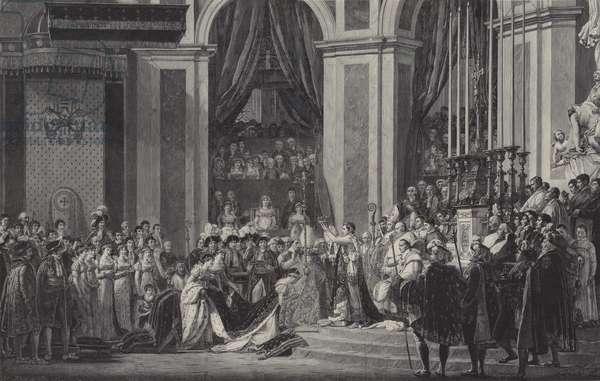 The Coronation of Napoleon as Emperor of France in Notre Dame de Paris, 1804 (engraving)