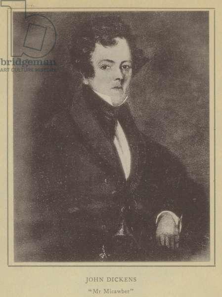 John Dickens, Mr Micawber (litho)