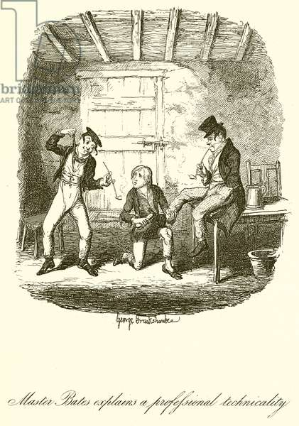 Master Bates Explains a Professional Technicality (engraving)