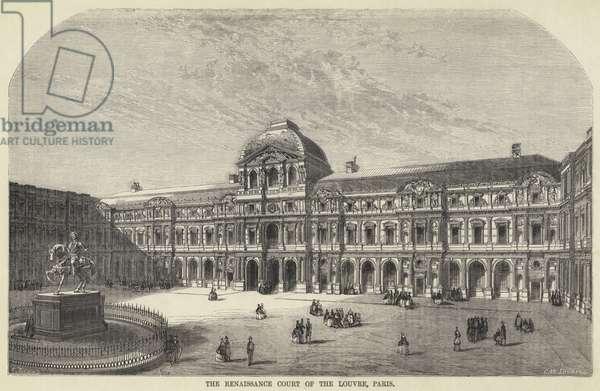 The Renaissance Court of the Louvre, Paris (engraving)