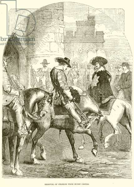 Removal of Charles from Hurst Castle (engraving)