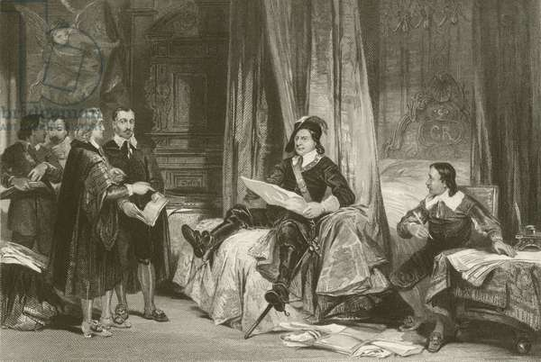 Cromwell conferring with the Lawyers (engraving)