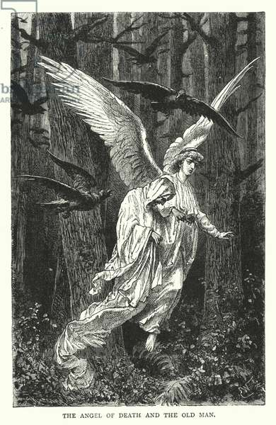 The Angel of Death and the Old Man (engraving)