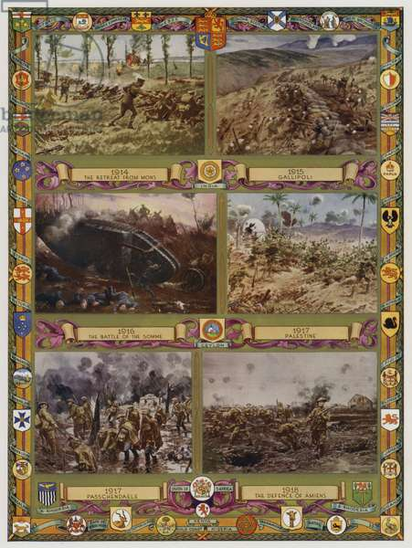 Phases of the British Army's part in the First World War, 1914-1918 (colour litho)