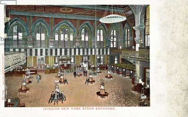 New York Stock Exchange, Interior (colour photo)