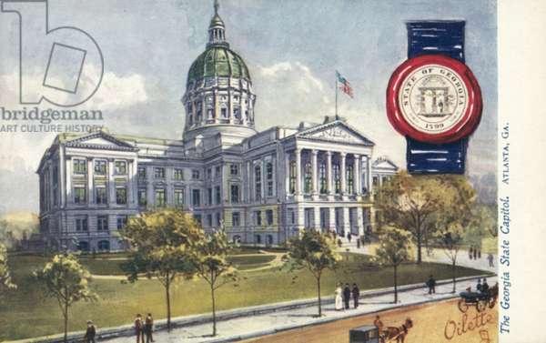 The Georgia State Capitol, Atlanta, Georgia (colour litho)