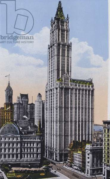 New York: Woolworth Building (colour photo)