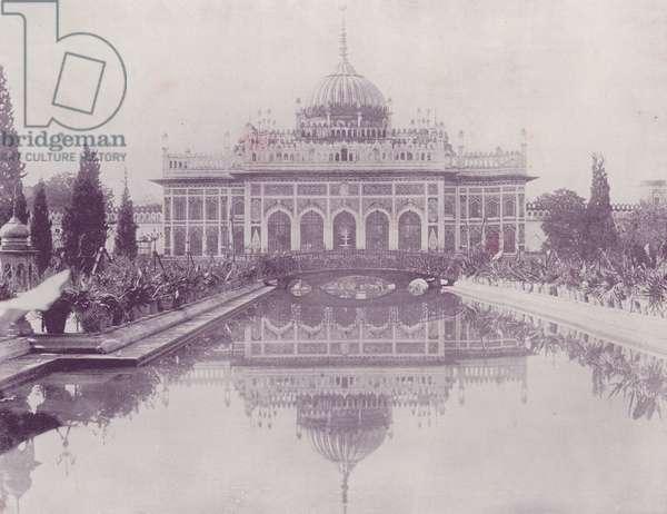 "The ""Palace of Light,"" Husainabad, Lucknow (b/w photo)"