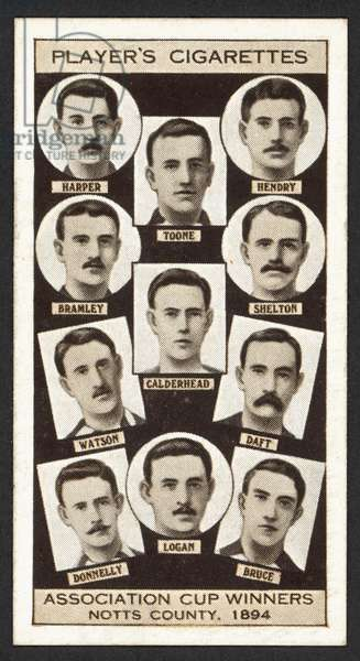 Association Cup Winners, Notts County, 1894 (litho)