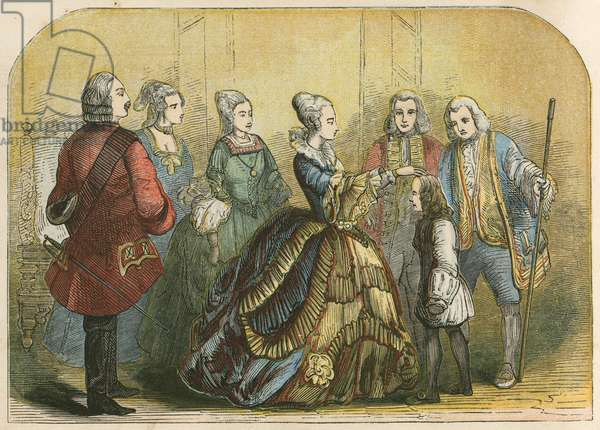 Queen Anne touching Dr Johnson, when a boy, to cure him of scrofula