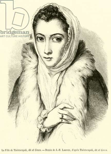 La Fille de Theotocopuli, dit el Greco (engraving)