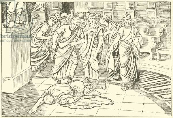 Death of Julius Caesar (litho)