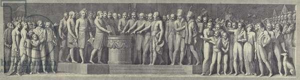 Solemn swearing of the oath establishing the Cisalpine Republic, 29 June 1796 (engraving)